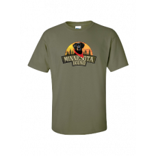 MN Bound Military Green Cotton Tee